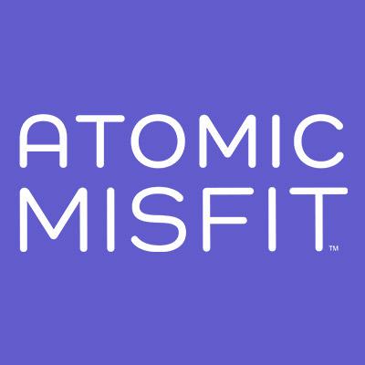 Atomic Misfit logo in square box