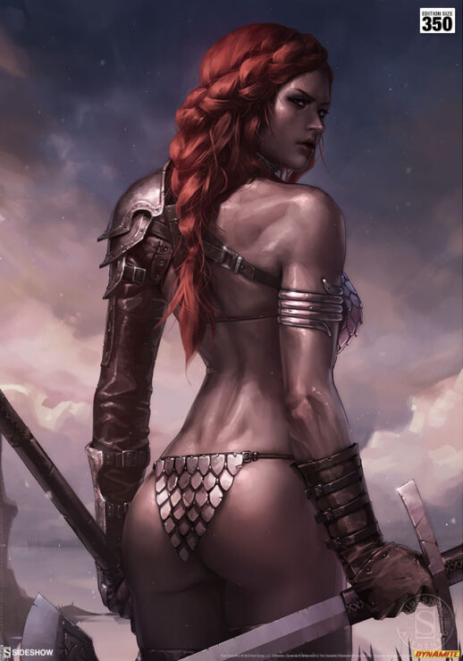Red Sonja Birth of the She-Devil Pre-Battle Version Fine Art Print Jeehyung Lee