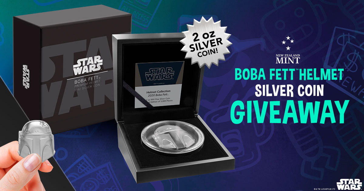 Boba Fett Helmet Silver Coin Giveaway Giveaway