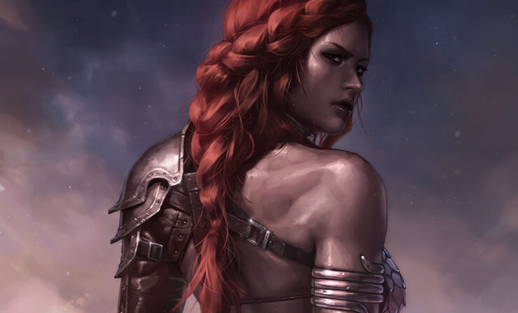 The Red Sonja: Birth of the She-Devil (Pre-Battle Version) Fine Art Print by Artist Jeehyung Lee
