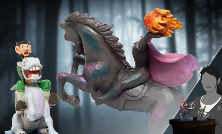 Headless Horseman and Ichabod Figurine- Enesco