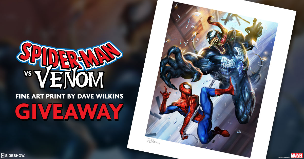 Spider-Man vs Venom Fine Art Print Giveaway