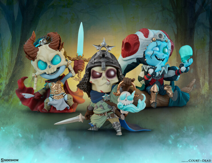 The Kier, Relic Ravlatch, and Malavestros Court-Toons Collectible Statue Set