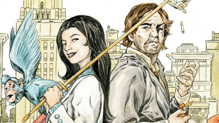 Fables Comic Book Cover- Snow and Bigby