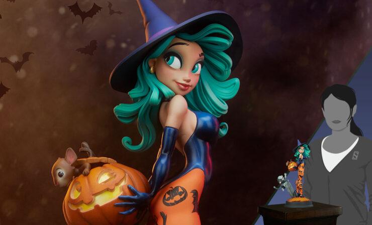 The Chris Sanders Artist Series Pumpkin Witch Statue
