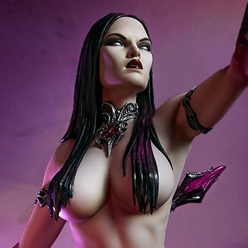 The Dark Sorceress: Guardian of the Void Statue