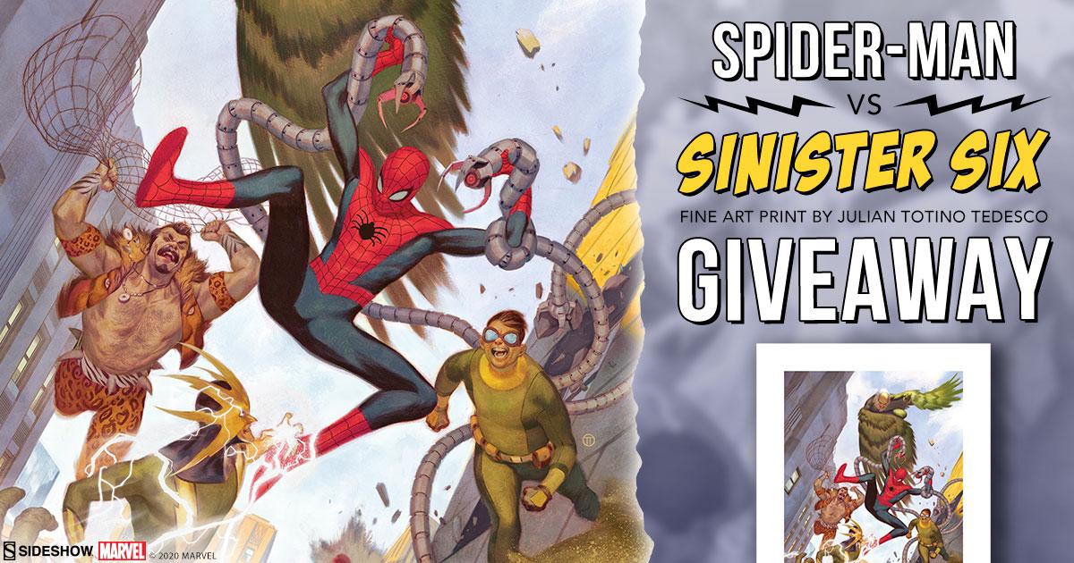 Spider-Man vs Sinister Six Fine Art Print Giveaway
