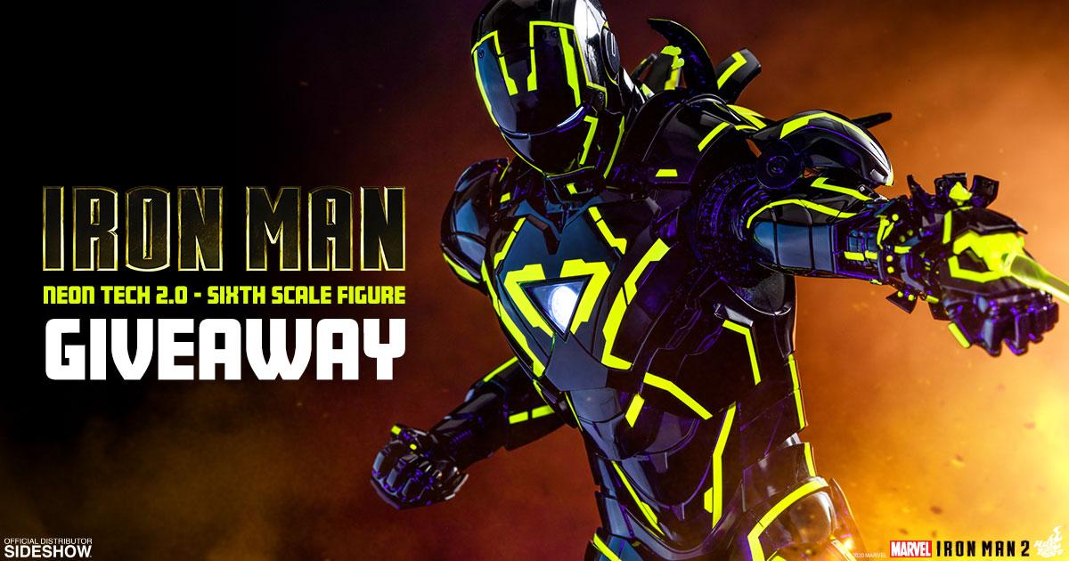 Neon Tech Iron Man Newsletter Giveaway