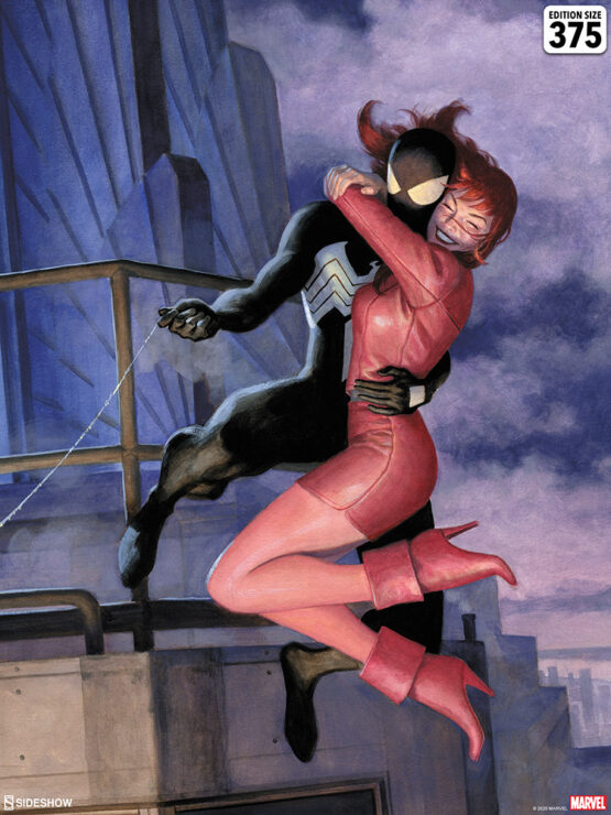 Spider-Man One Moment in Time Fine Art Print by Paolo Rivera Marvel Collectibles