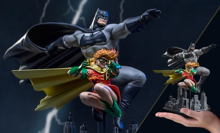 Batman and Robin Deluxe Statue- Dark Knight Returns