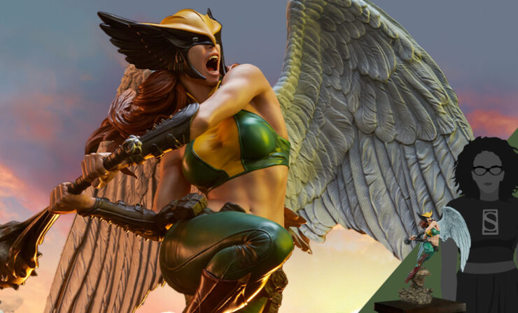 Final Product Photos of the Hawkgirl Premium Format™ Figure