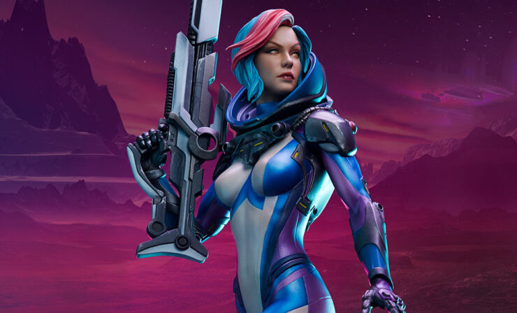 The Bounty Hunter: Galactic Gun for Hire Statue