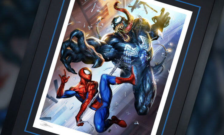 The Spider-Man vs Venom Fine Art Print by Artist Dave Wilkins