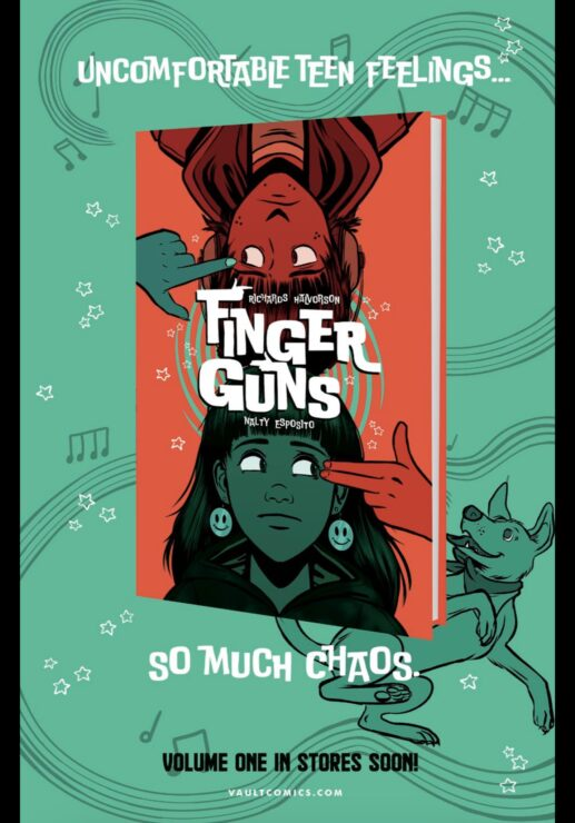 Finger Guns Vol. 1 (Vault Comics)- Justin Richards, Val Halvorson, Rebecca Nalty