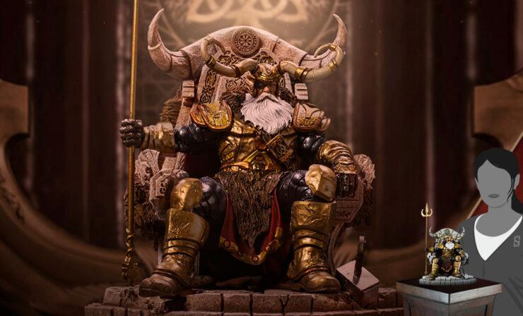 Odin Deluxe 1:10 Scale Statue Iron Studios