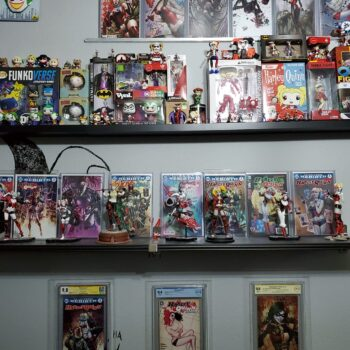 Harley Quinn DC Collectibles wall