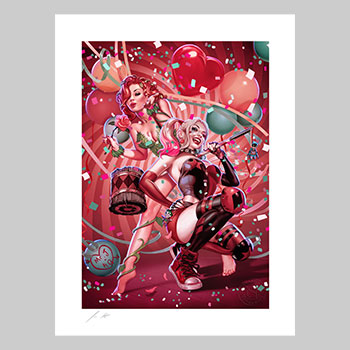 The Harley Quinn & Poison Ivy Fine Art Print by Artist John Keaveney