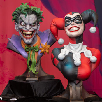 The Joker and Harley Quinn Life Size Bbust