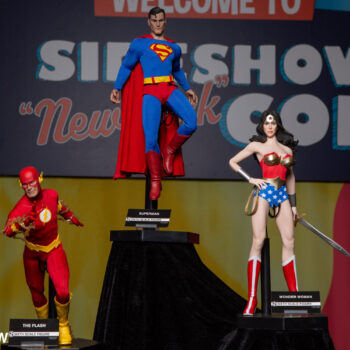 The Flash, Superman, and Wonder Woman Sixth Scale Figures