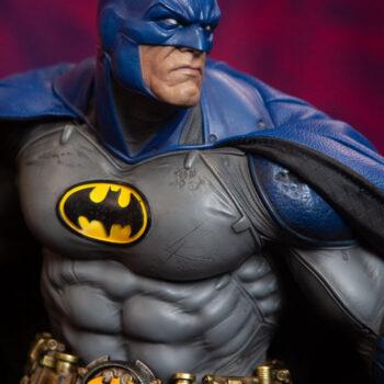 Close up on Batman Blue Cape Variant Premium Format Figure