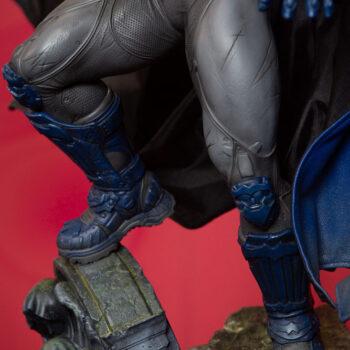 close up on legs of Batman Blue Cape Variant Premium Format Figure