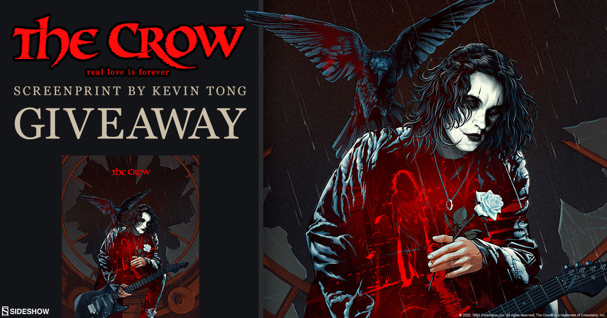The Crow: Real Love Is Forever Fine Art Screenprint Giveaway