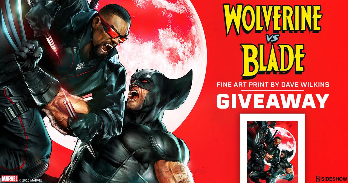Wolverine vs Blade Fine Art Print Giveaway