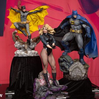 Batgirl, Black Canary, and Batwoman Blue Variant Premium Format Figures