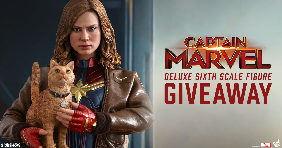 Captain Marvel Deluxe Sixth Scale Figure Newsletter Giveaway