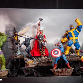 Hulk, Wasp, Black Panther, Thor, Captain America, Thanos, Iron Man, Captain Marvel