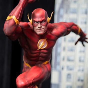 The Flash Premium Format Figure Close Up
