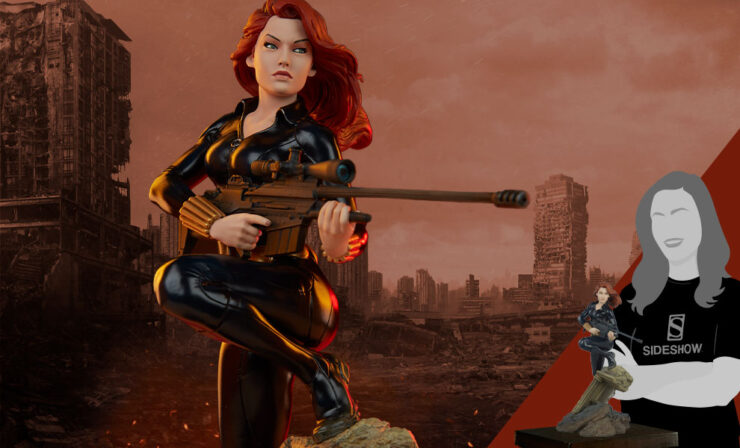 Final Product Photos of the Black Widow Statue