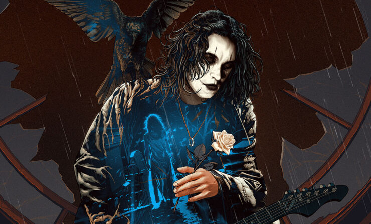 The Crow: Real Love is Forever Variant Fine Art Screenprint by Kevin Tong