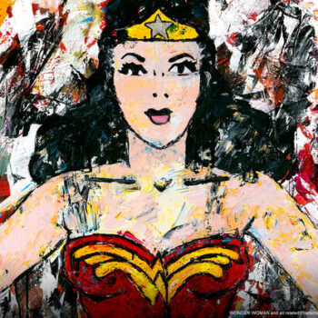 Golden Age Wonder Woman Fine Art Print