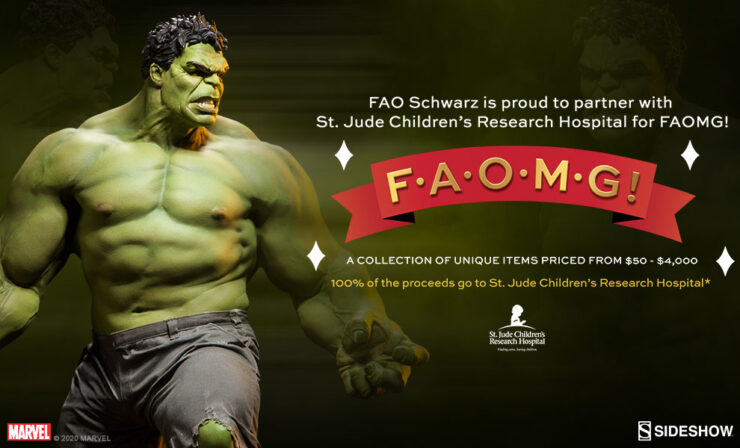 Rare Avengers Hulk Maquette Signed by Stan Lee to Benefit FAOMG Charity Initiative- October 23 Only