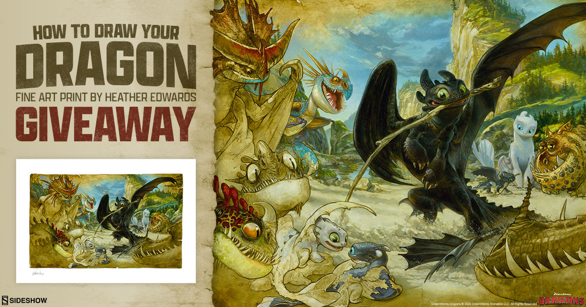 How To Draw Your Dragon Fine Art Print Giveaway