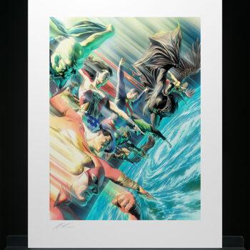 Protectors of the Universe Fine Art Lithograph Alex Ross Art DC Comics Collectbiles