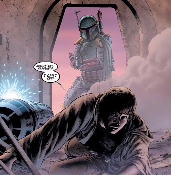 Boba Fett and Luke Skywalker, Marvel Comics