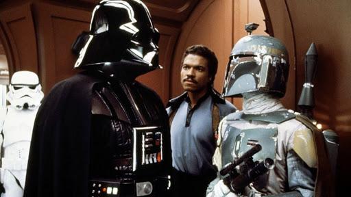 Darth Vader, Lando Calrissian, and Boba Fett