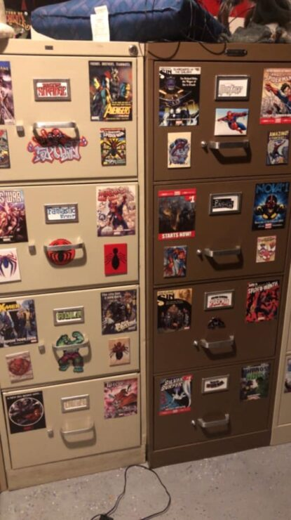 Eric P.'s Comic Book Filing Cabinets