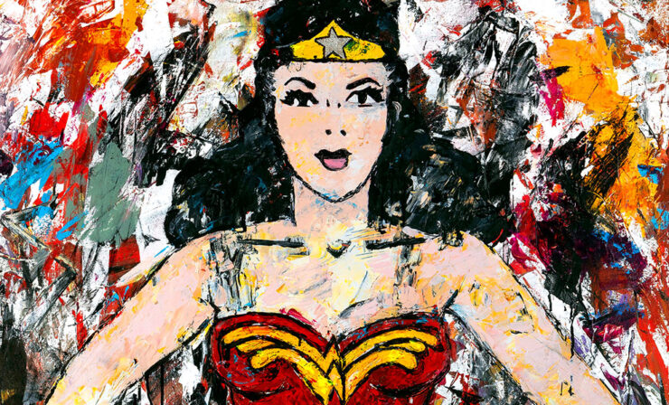The Golden Age Wonder Woman Fine Art Print by Megh Knappenberger