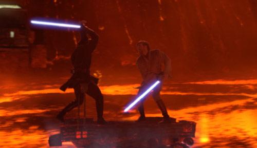Anakin and Obi-Wan Lightsaber Duel