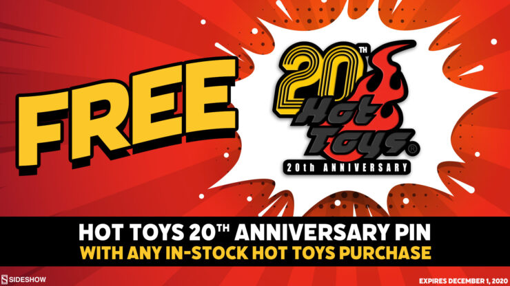 FREE Figure Fantasy Book and Hot Toys Pin for Cyber Monday 2020!
