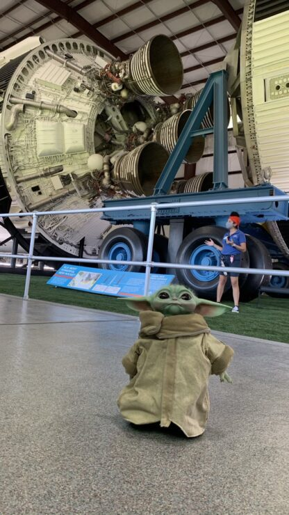The Child Life-Size Figure at the Space Center