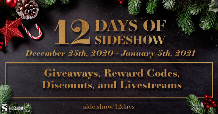 Your Guide to the 12 Days of Sideshow 2020