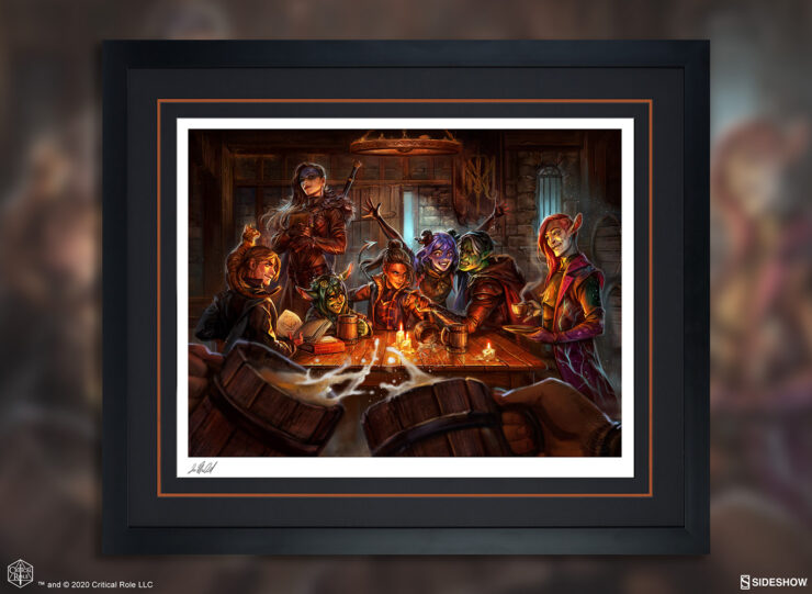 The Mighty Nein: This is How We Roll! Fine Art Print