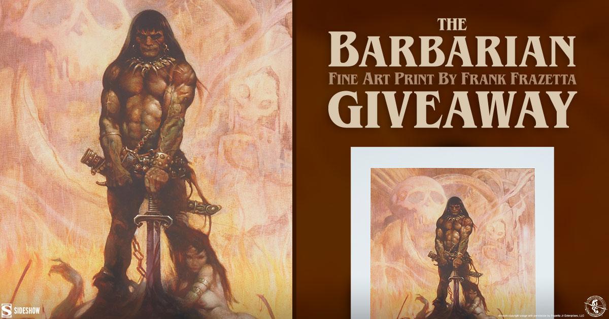 The Barbarian Fine Art Print Giveaway