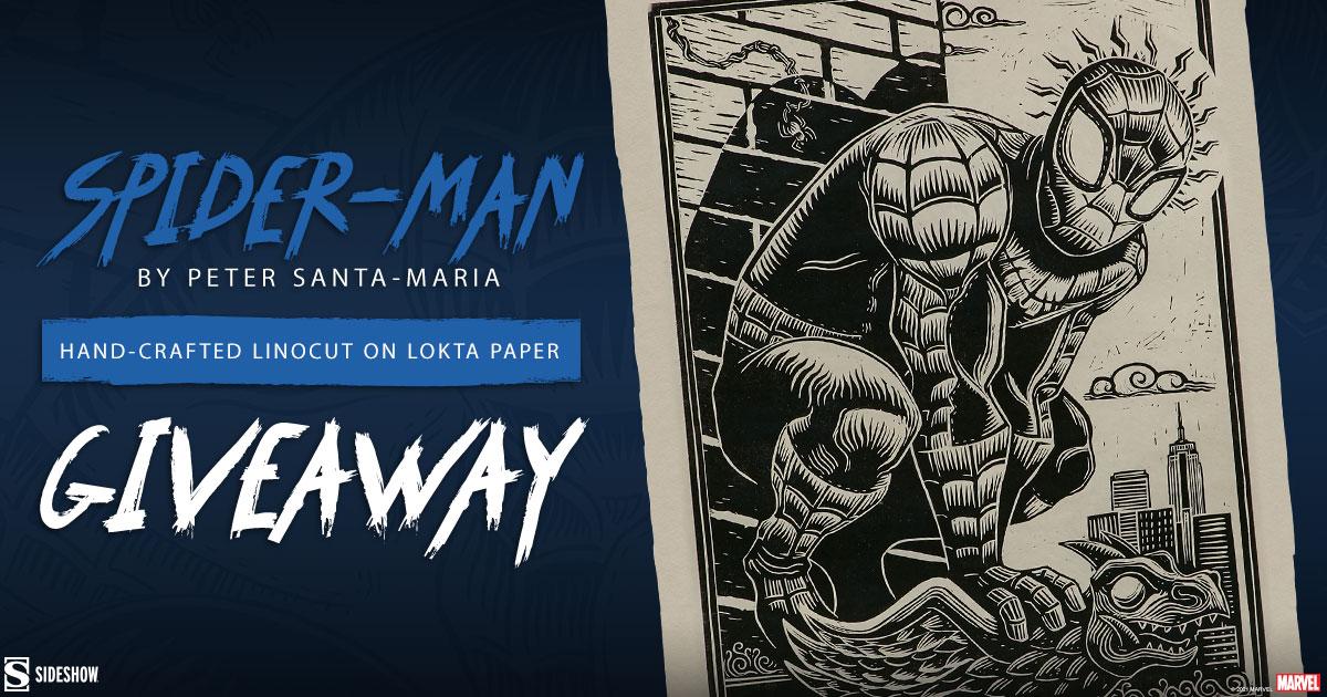 Spider-Man Linocut Fine Art Print Giveaway