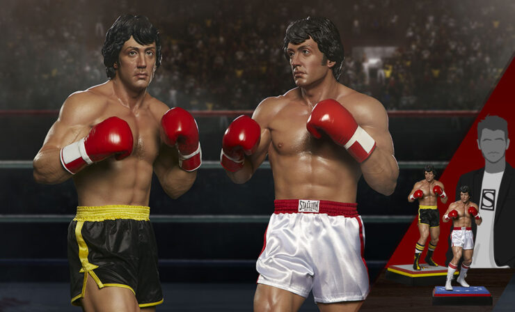 The Rocky 1:3 Scale Statue, Rocky II Statue, and The Italian Stallion Statue Set by PCS