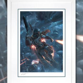 The Mercenary Fine Art Print by Artist Jerry Vanderstelt Star Wars Boba Fett Collectibles